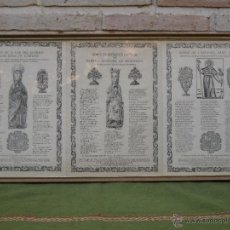 Arte: CUADRO 3 LITOGRAFIAS RELIGIOSAS -SANT JOAN CASELLES/NOSTRA SENYORA MERITXELL/ L`APOSTOL SANT JAUME.. Lote 49304542