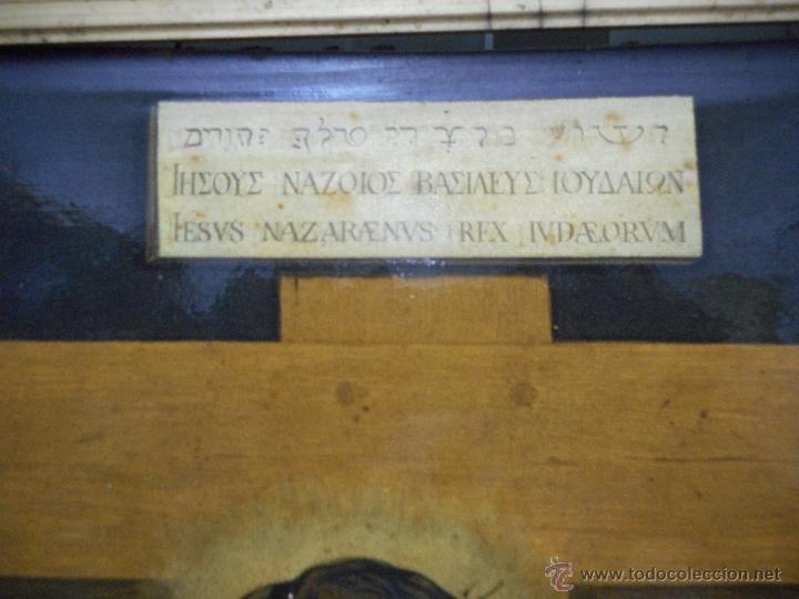 Arte: gran copia o litografia cristo crucificado de velazquez supongo siglo XIX firmado - Foto 3 - 49326624