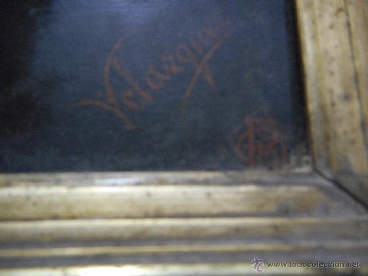 Arte: gran copia o litografia cristo crucificado de velazquez supongo siglo XIX firmado - Foto 9 - 49326624