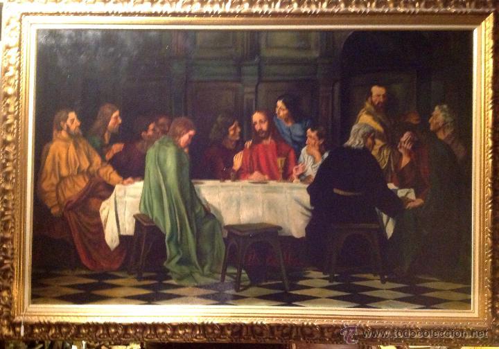 cuadro impresionante la última cena óleo con ma - Comprar Pintura ...