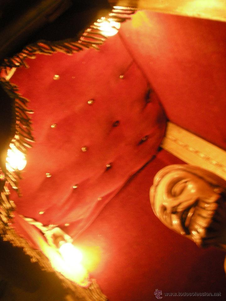 Arte: preciosa capilla antigua de madera tejido pasamanería metálica oro con iluminación siglo XVIII. - Foto 22 - 49418467