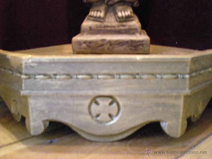 Arte: preciosa capilla antigua de madera tejido pasamanería metálica oro con iluminación siglo XVIII. - Foto 24 - 49418467