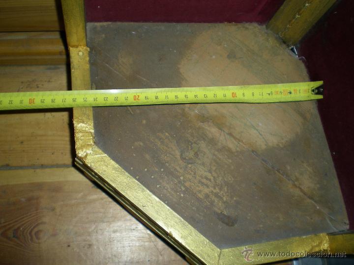 Arte: preciosa capilla antigua de madera tejido pasamanería metálica oro con iluminación siglo XVIII. - Foto 35 - 49418467
