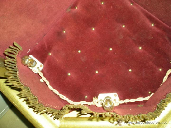 Arte: preciosa capilla antigua de madera tejido pasamanería metálica oro con iluminación siglo XVIII. - Foto 38 - 49418467
