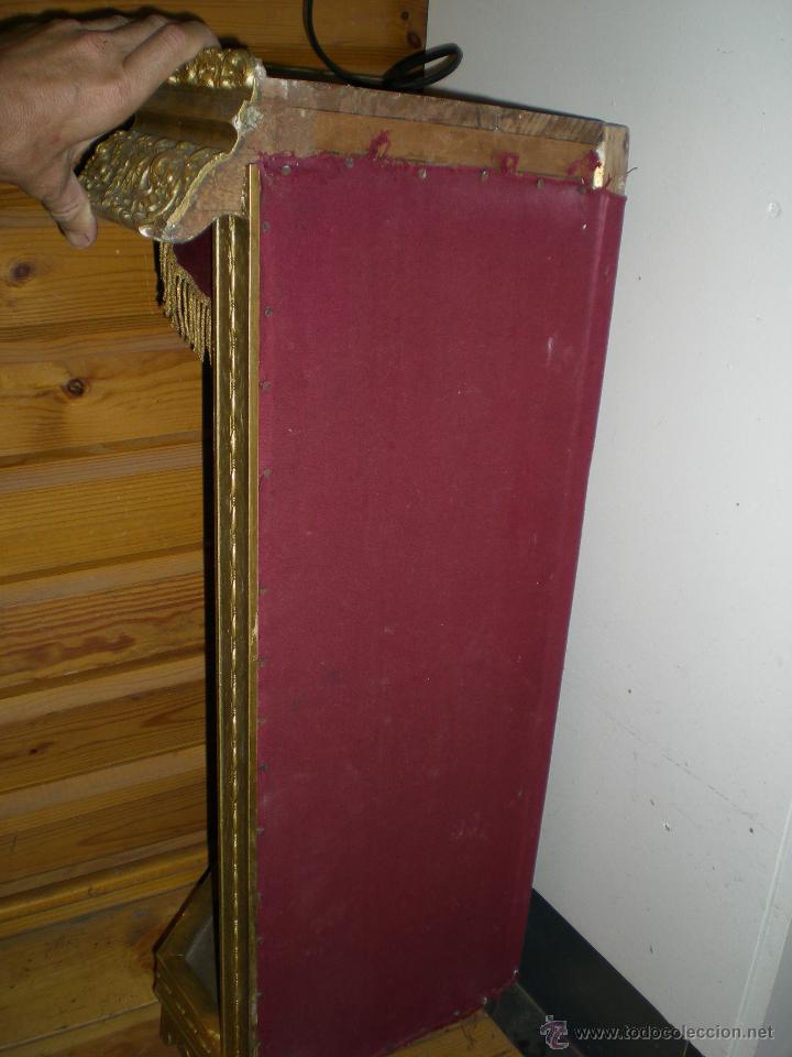 Arte: preciosa capilla antigua de madera tejido pasamanería metálica oro con iluminación siglo XVIII. - Foto 39 - 49418467