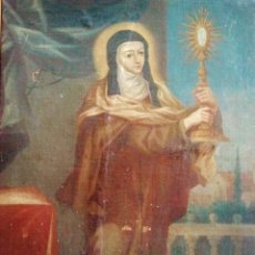 Arte: 'SANTA CLARA'. ÓLEO SOBRE LIENZO, S. XVIII.. Lote 49438305