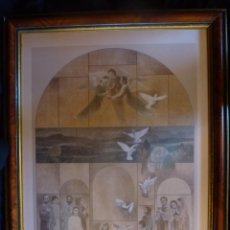 Arte: LITOGRAFIA DEL AUTOR, CARLOS BUSQUETS. TEMATICA RELIGIOSA.. Lote 49443996