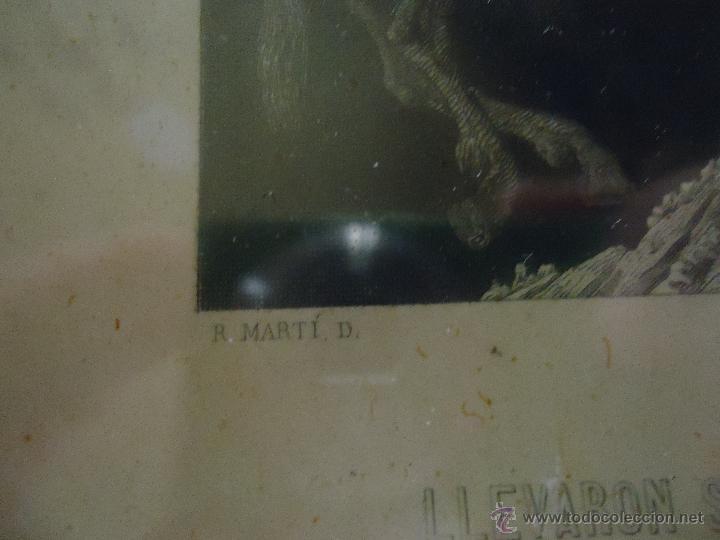 Arte: ESPECTACULAR GRABADO EL QUIJOTE, ENMARCADO MARCO ISABELINO ORO FINO, GRABADOR A FATIO Y R MARTIN - Foto 6 - 49485438