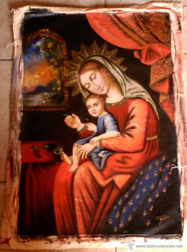 VIRGEN CON NIÑO60X40 CM (Arte - Arte Religioso - Pintura Religiosa - Oleo)