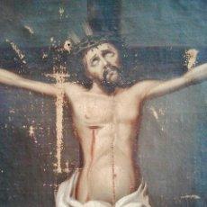 Arte: 'CRISTO EN LA CRUZ'. ÓLEO SOBRE LIENZO DEL S. XVIII.. Lote 49551772
