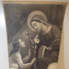 Arte: PRECIOSA Y ESPECTACULAR LITOGRAFIA ILUMINDADA DEL SIGLO XIX. EN CARTON DURO. DE EXCELENTE CALIDAD.. Lote 49620134