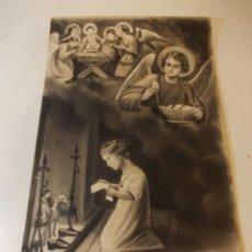 Arte: PRECIOSA Y ESPECTACULAR LITOGRAFIA ILUMINDADA DEL SIGLO XIX. EN CARTON DURO. DE EXCELENTE CALIDAD.. Lote 49620266