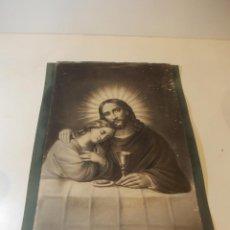 Arte: PRECIOSA Y ESPECTACULAR LITOGRAFIA DEL SIGLO XIX. EN CARTON DURO. DE EXCELENTE CALIDAD.. Lote 49620764