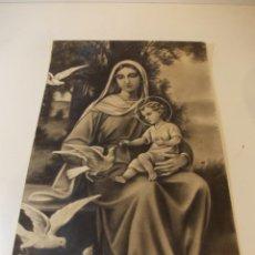 Arte: PRECIOSA Y ESPECTACULAR LITOGRAFIA ILUMINADA DEL SIGLO XIX. EN CARTON DURO. MEDIDAS 49,5 X 30 CM. Lote 49620946