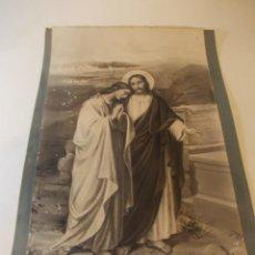 Arte: PRECIOSA Y ESPECTACULAR LITOGRAFIA DEL SIGLO XIX. EN CARTON DURO.MEDIDAS 34 X 54 CM. Lote 49630463