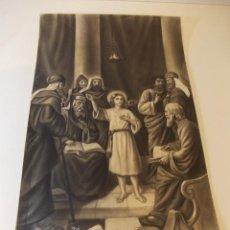 Arte: PRECIOSA Y ESPECTACULAR LITOGRAFIA DEL SIGLO XIX. EN CARTON DURO. MEDIDAS 29,5 X 50,5 CM. Lote 57793094