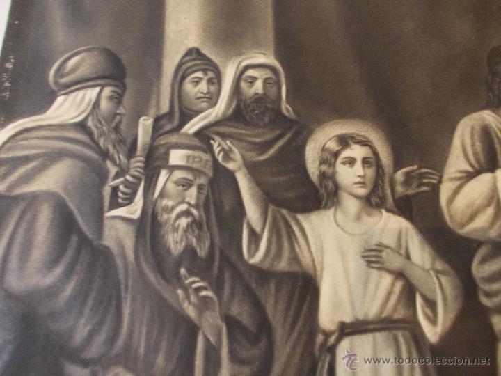 Arte: PRECIOSA Y ESPECTACULAR LITOGRAFIA DEL SIGLO XIX. EN CARTON DURO. MEDIDAS 29,5 X 50,5 CM - Foto 2 - 57793094