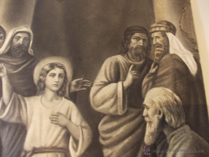 Arte: PRECIOSA Y ESPECTACULAR LITOGRAFIA DEL SIGLO XIX. EN CARTON DURO. MEDIDAS 29,5 X 50,5 CM - Foto 3 - 57793094
