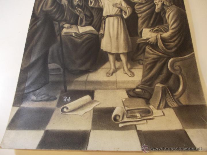 Arte: PRECIOSA Y ESPECTACULAR LITOGRAFIA DEL SIGLO XIX. EN CARTON DURO. MEDIDAS 29,5 X 50,5 CM - Foto 4 - 57793094