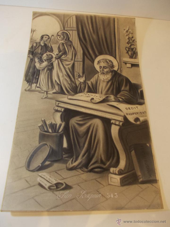 PRECIOSA Y ESPECTACULAR LITOGRAFIA DEL SIGLO XIX. EN CARTON DURO.MEDIDAS 49 X 65 CM (Arte - Arte Religioso - Litografías)