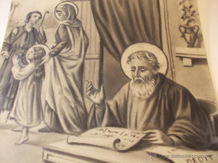 Arte: PRECIOSA Y ESPECTACULAR LITOGRAFIA DEL SIGLO XIX. EN CARTON DURO.MEDIDAS 49 X 65 CM - Foto 2 - 57793112