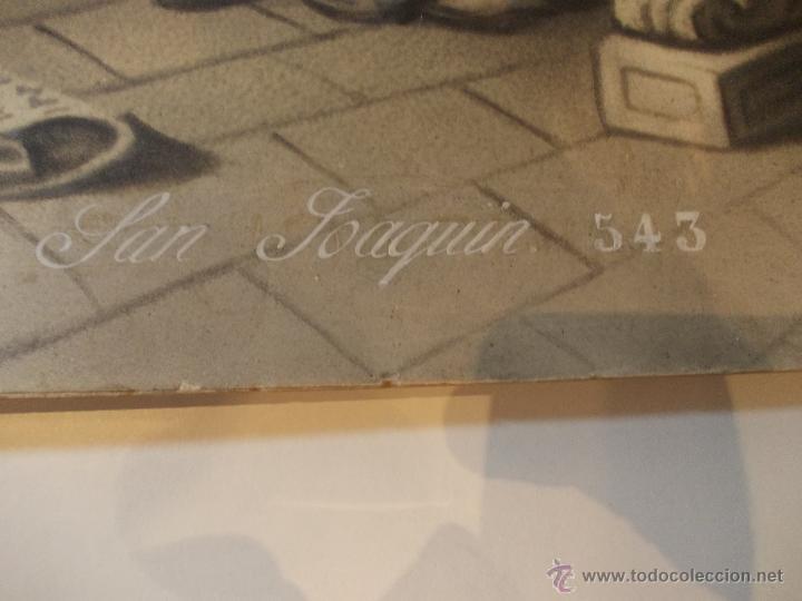 Arte: PRECIOSA Y ESPECTACULAR LITOGRAFIA DEL SIGLO XIX. EN CARTON DURO.MEDIDAS 49 X 65 CM - Foto 4 - 57793112