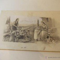 Arte: PRECIOSA Y ESPECTACULAR LITOGRAFIA DEL SIGLO XIX. EN CARTON DURO. Lote 49632460