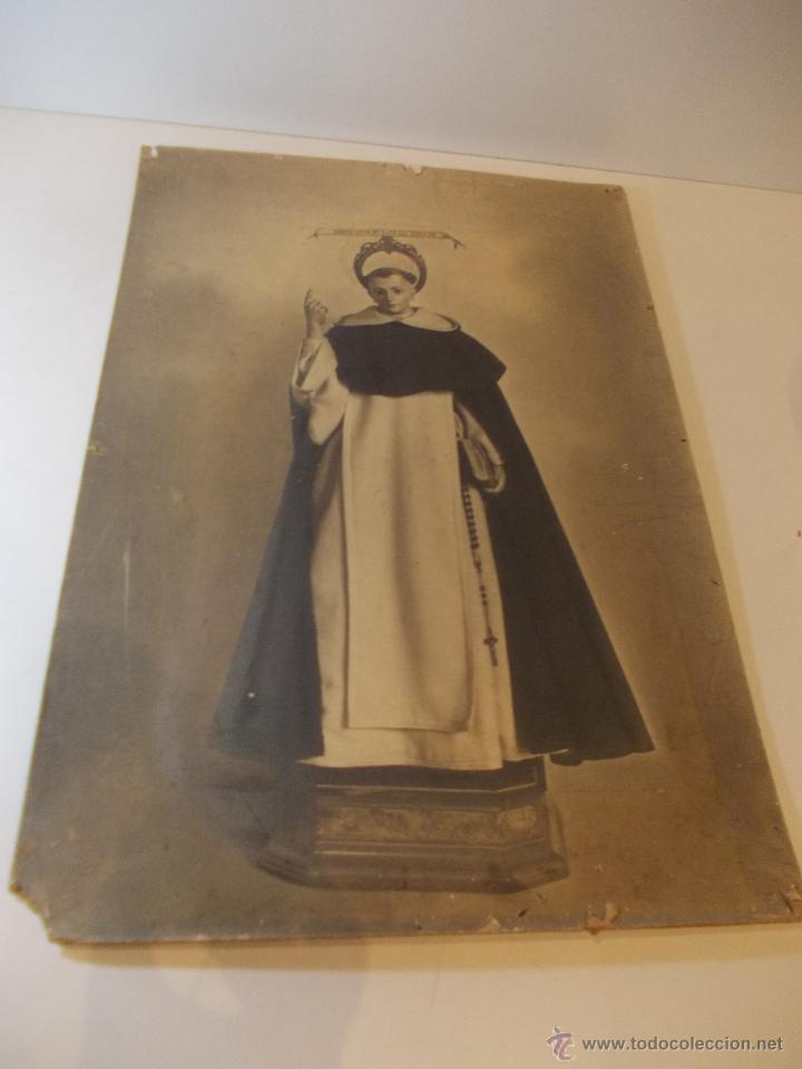 PRECIOSA Y ESPECTACULAR LITOGRAFIA ILUMINADA DEL SIGLO XIX. EN CARTON DURO. MEDIDAS 46,5 X 63 CM (Arte - Arte Religioso - Litografías)