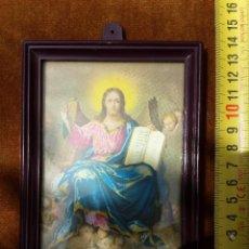 Art: CUADRO DE PEQUEÑAS DIMENSIONES DE JESUCRISTO Y ANGELES. Lote 49632878
