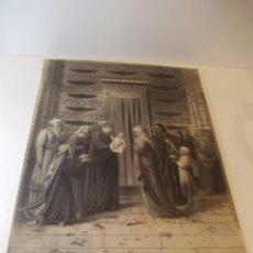 Arte: PRECIOSA Y ESPECTACULAR LITOGRAFIA ILUMINDADA DEL SIGLO XIX. EN CARTON DURO.MEDIDAS 29 X 46,5. Lote 57793122