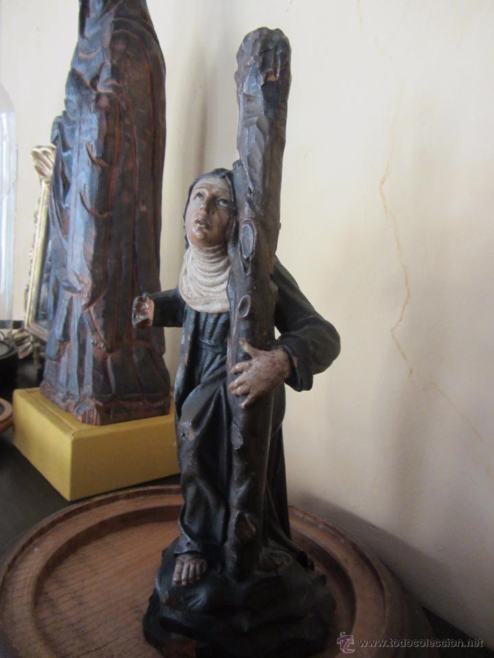 Arte: Figura de Santa - XVIII en Madera Policromada - Foto 2 - 49637649