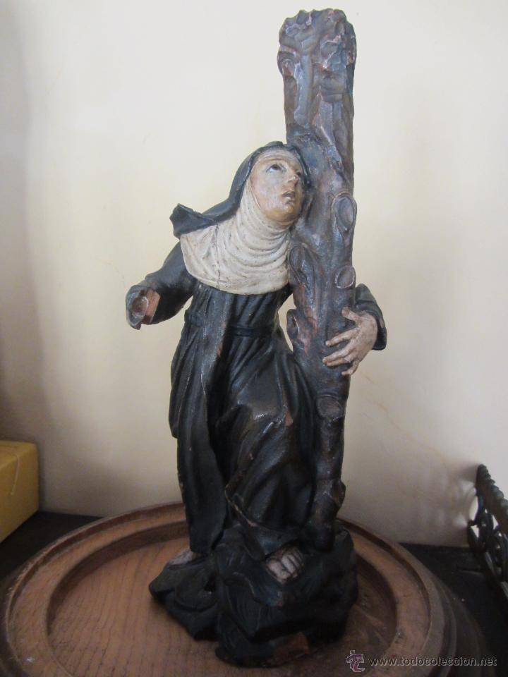 Arte: Figura de Santa - XVIII en Madera Policromada - Foto 4 - 49637649