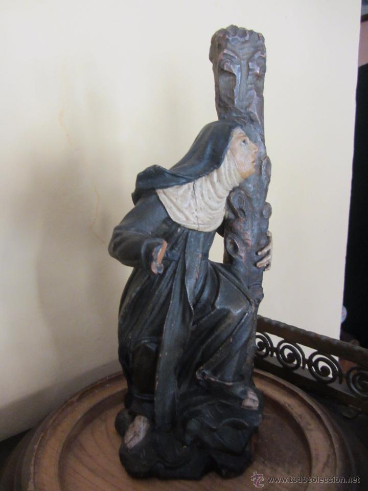 Arte: Figura de Santa - XVIII en Madera Policromada - Foto 5 - 49637649