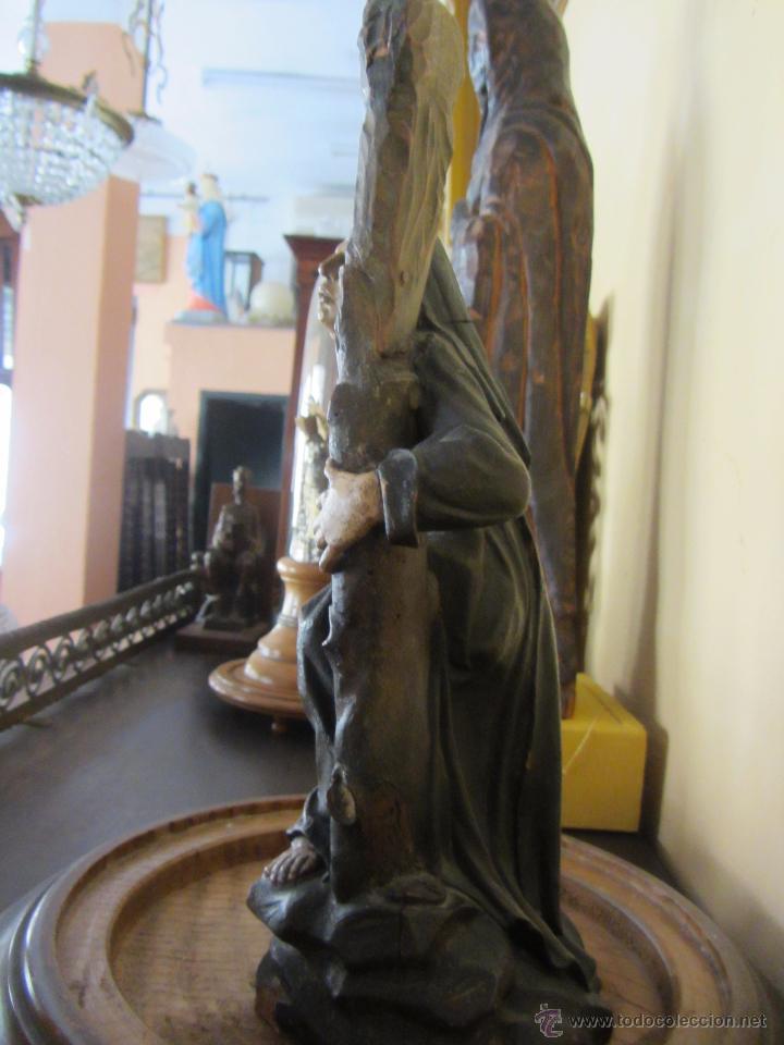 Arte: Figura de Santa - XVIII en Madera Policromada - Foto 6 - 49637649
