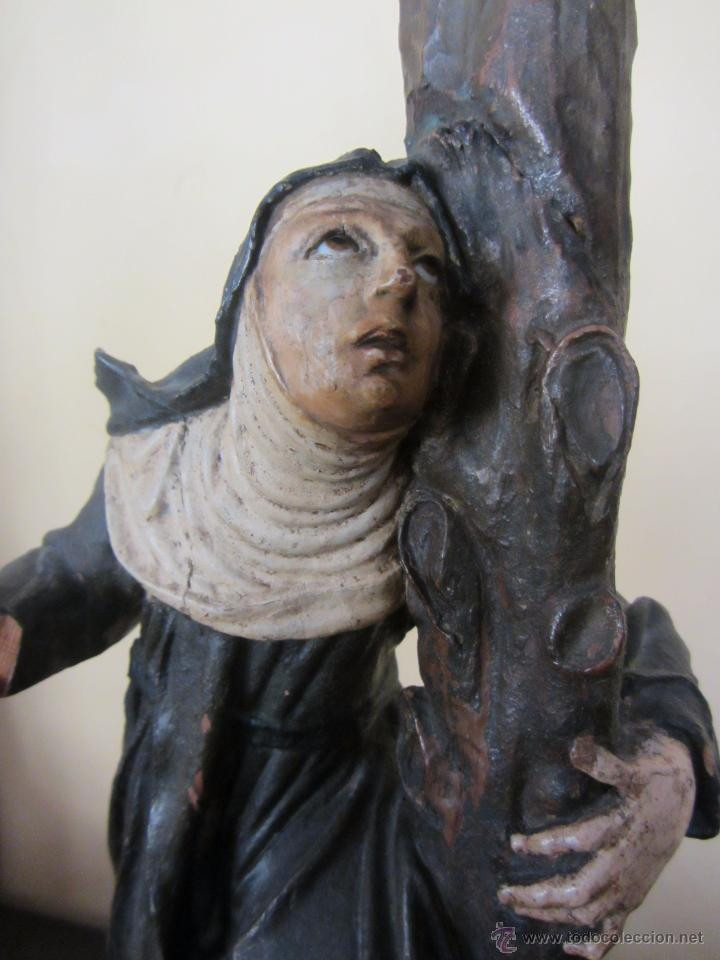 Arte: Figura de Santa - XVIII en Madera Policromada - Foto 7 - 49637649