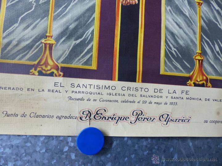 Arte: EL SANTISIMO CRISTO DE LA FE, RECUERDO DE SU CORONACION, MAYO DE 1955, IGLESIA SANTA MONICA VALENCIA - Foto 2 - 49645235