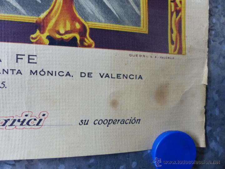Arte: EL SANTISIMO CRISTO DE LA FE, RECUERDO DE SU CORONACION, MAYO DE 1955, IGLESIA SANTA MONICA VALENCIA - Foto 3 - 49645235