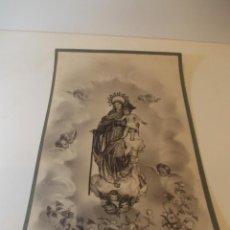 Arte: PRECIOSA Y ESPECTACULAR LITOGRAFIA DEL SIGLO XIX. EN CARTON DURO.30,5 X 40,5 CM. Lote 49647625