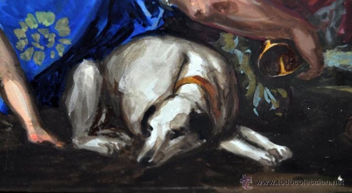 Arte: VENUS Y ADONIS. GOUACHE SOBRE CARTÓN DE PRINCIPIOS DEL SIGLO XX - Foto 5 - 49666239