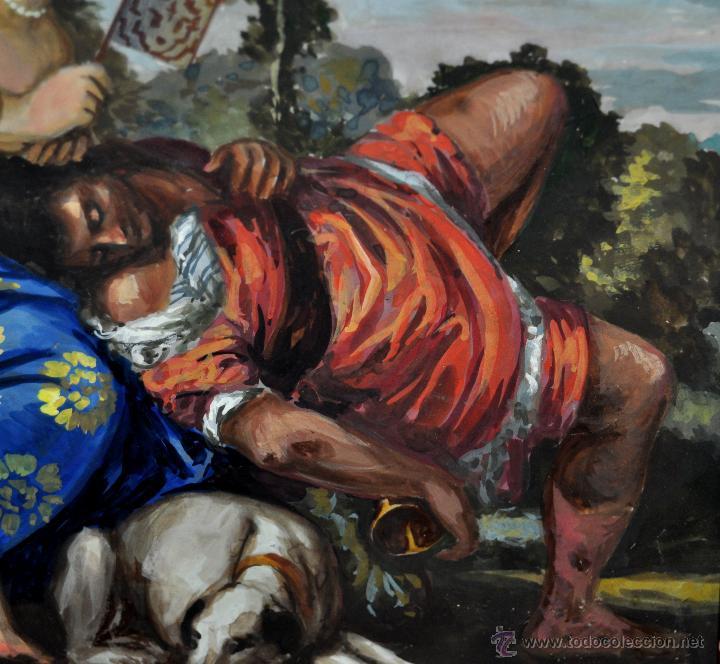 Arte: VENUS Y ADONIS. GOUACHE SOBRE CARTÓN DE PRINCIPIOS DEL SIGLO XX - Foto 7 - 49666239