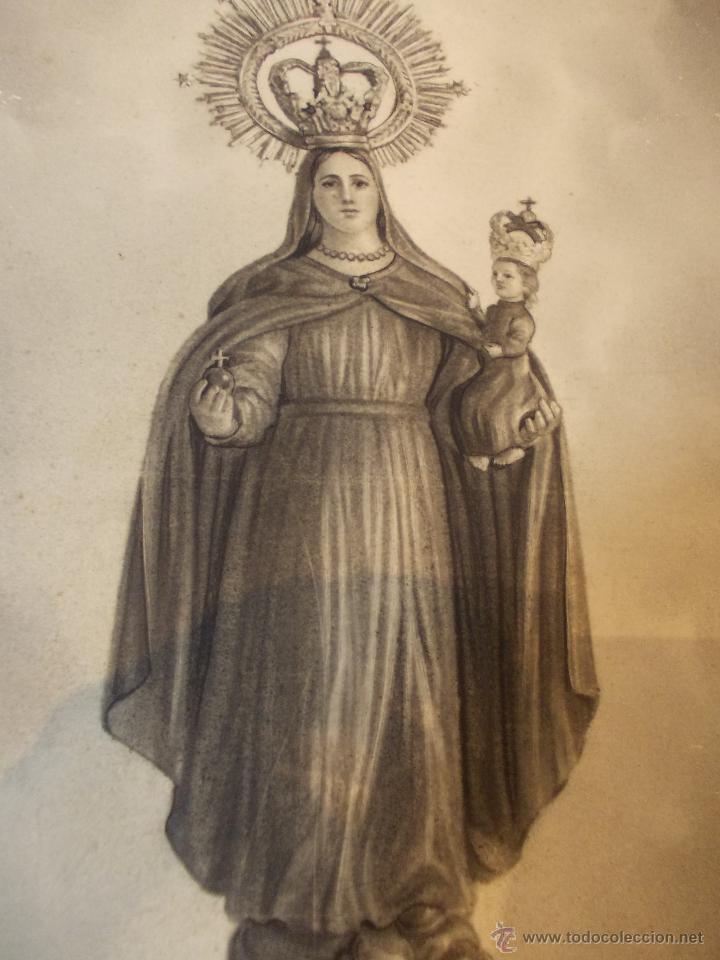 Arte: PRECIOSA Y ESPECTACULAR LITOGRAFIA ILUMINADA DEL SIGLO XIX. EN CARTON DURO. DE EXCELENTE CALIDAD - Foto 4 - 49691940