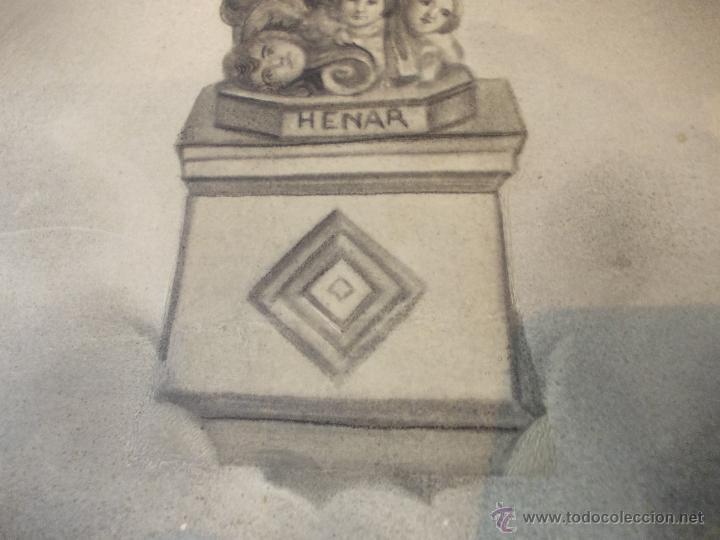 Arte: PRECIOSA Y ESPECTACULAR LITOGRAFIA ILUMINADA DEL SIGLO XIX. EN CARTON DURO. DE EXCELENTE CALIDAD - Foto 5 - 49691940