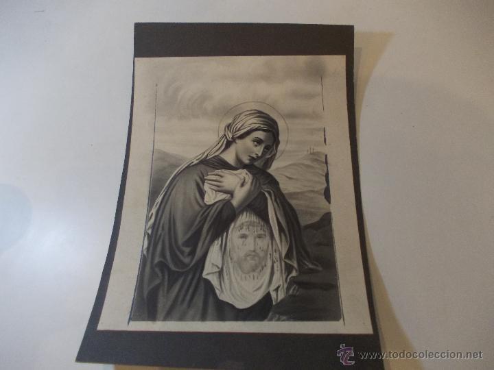 PRECIOSA Y ESPECTACULAR LITOGRAFIA DEL SIGLO XIX. EN CARTON DURO. DE EXCELENTE CALIDAD (Arte - Arte Religioso - Litografías)