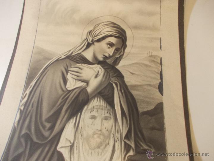 Arte: PRECIOSA Y ESPECTACULAR LITOGRAFIA DEL SIGLO XIX. EN CARTON DURO. DE EXCELENTE CALIDAD - Foto 2 - 49692042