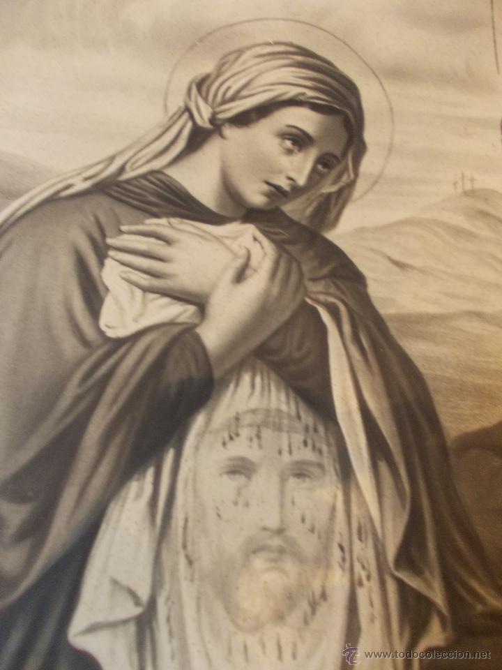 Arte: PRECIOSA Y ESPECTACULAR LITOGRAFIA DEL SIGLO XIX. EN CARTON DURO. DE EXCELENTE CALIDAD - Foto 4 - 49692042