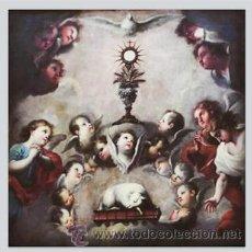 Arte: AZULEJO 10X10 CON MOTIVOS EUCARISTICOS. Lote 49702164