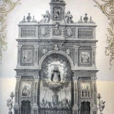 Arte: CARTEL GRABADO O LITOGRAFIA ANTIGUA, SAN VICENTE FERRER, ALTAR TROS ALT , VALENCIA , ORIGINAL. Lote 49702844