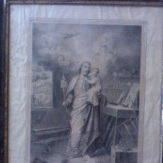 Arte: LITOGRAFIA EL PATRIARCA SAN JOSE DE A. PASCUAL Y ABAD VALENCIA 1860. Lote 49736600