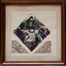 Arte: E.C. RICART (1893-1960) GRABADO NUMERADO 6/50. 43X43 CM. MARCO: 55X55 CM.. Lote 49784050