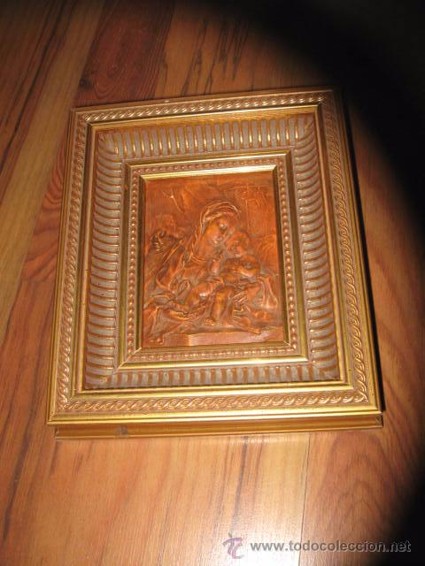 imagen virgen en relieve terracota, enmarcado m - Comprar en ...